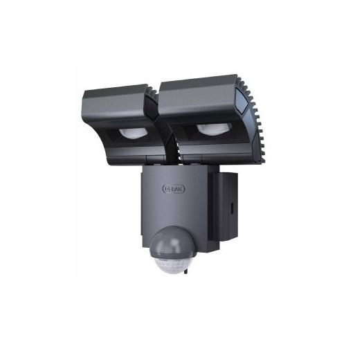 spot led ext noxlite 2x8w blc frd detecteur gris. Black Bedroom Furniture Sets. Home Design Ideas