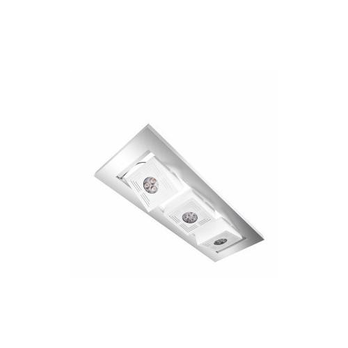 PLAFONNIER LED TRESOL CUBE TRIO 3x4,5W ARGENT