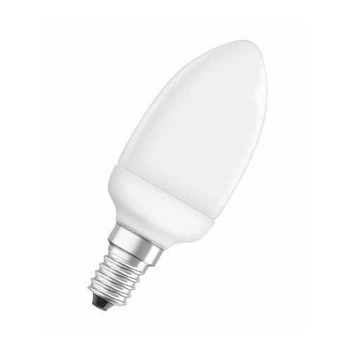 Ampoule EE Fluocompacte Flamme 6W E14 Chaud