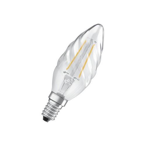 Ampoule LED FILAMENT Flamme Tordadée 2W=25 E14