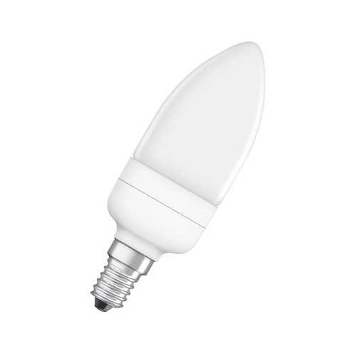 Ampoule Fluocompacte Flamme 9W E14 BLANC Chaud