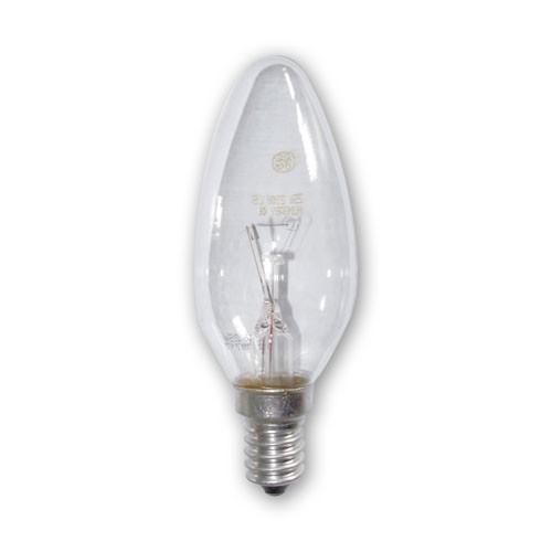 Ampoule Incandescente Flamme Lisse Claire E14 25W
