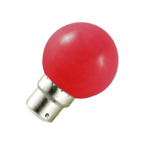 Ampoule LED 0.8W=9W B22 ROUGE
