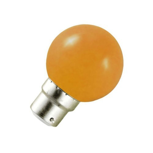 Ampoule LED 0.8W=9W B22 ORANGE