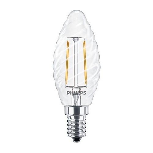 Ampoule Filament LED Candle E14 2,3W=25W 2700k Torsadé