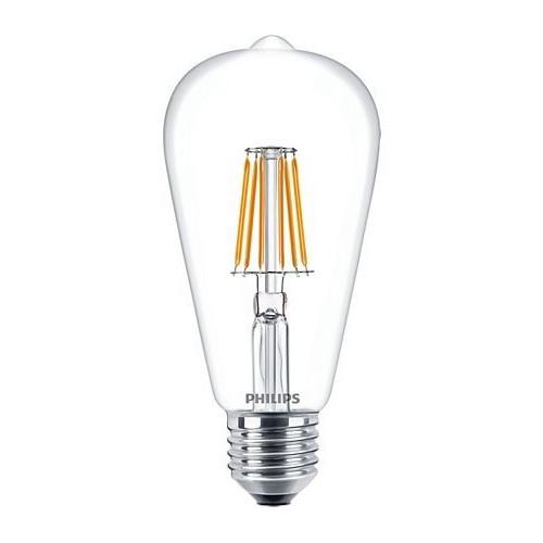 Ampoule Filament LED Edison E27 7,5W=60W 2700k Claire