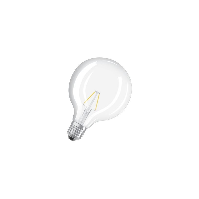 ampoule led filament globe 2w 25w e27 2700k. Black Bedroom Furniture Sets. Home Design Ideas