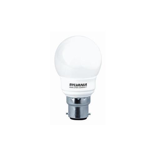 Ampoule Fluocompacte BALL G45 7W B22 2700K SLV