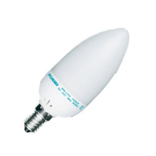 Ampoule Fluocompacte ML CANDLE E14 9W 2700K SLV