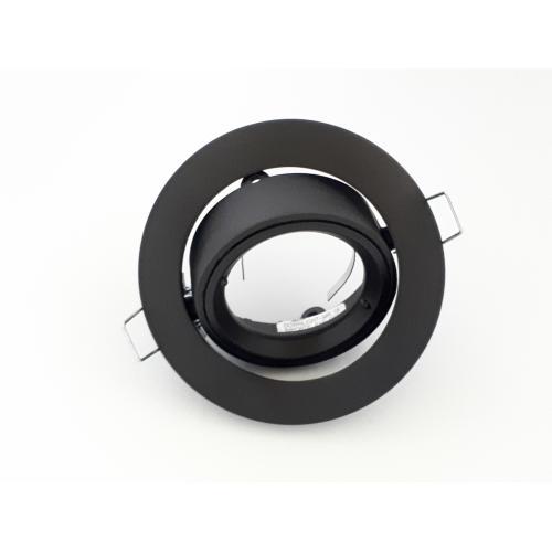 Encastre de plafond rond MR16 GU5,3 orientable 50w Noir