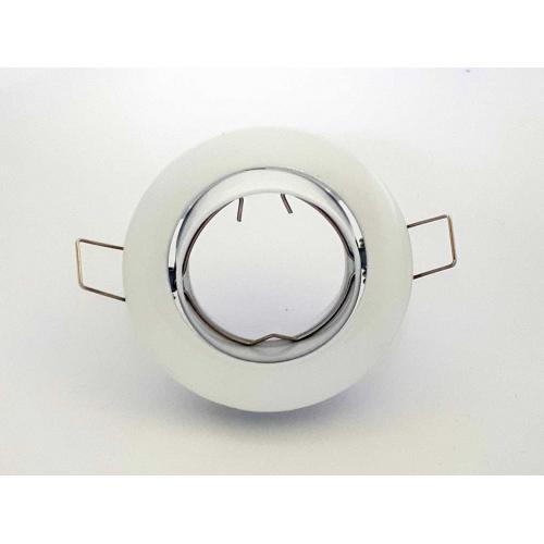 Encastre de plafond rond 50/1 G5,3 orientable Blanc