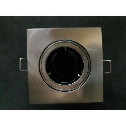 Encastre de plafond carré TUBO SQUARE GU5,3 Alu Brossé