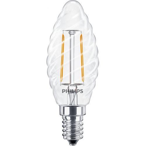 Ampoule LED Filament LEDcandle 2W=25W E14 2700K Torsadée