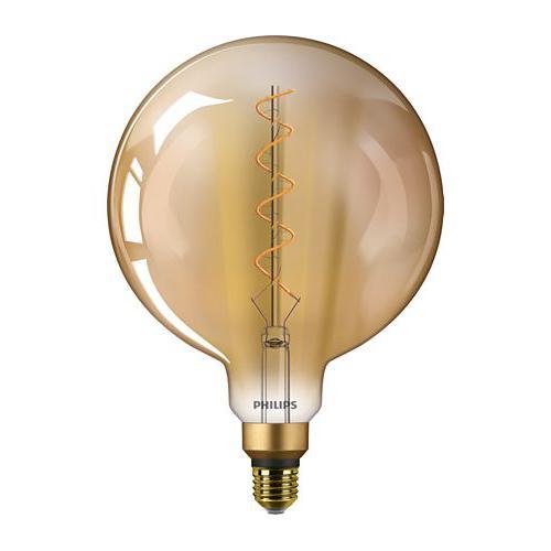 Ampoule LED Filament Globe Vintage Giant LEDbulb 5W=25W E27 2000K Ambrée