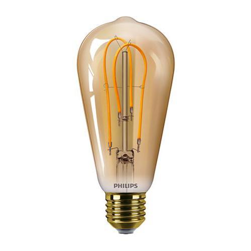 Ampoule LED Filament Edison Vintage LEDbulb 5W=25W E27 2000K Ambrée
