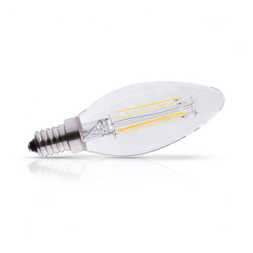 Ampoule Led E14 Filament Flamme 4W 2700K | remplace 40W