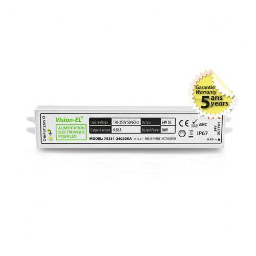 Alimentation pour LED 20W 24VDC