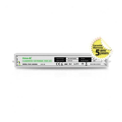 Alimentation pour LED 30W 24V DC