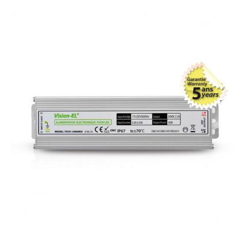 Alimentation pour LED 60W 24V DC