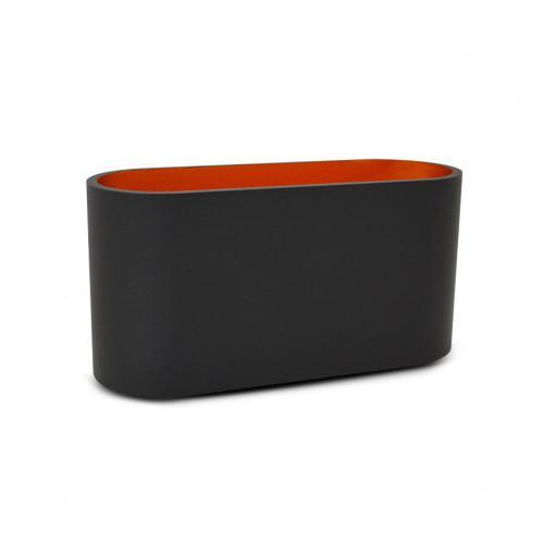 Applique Murale LED G9 X1 Noir/Doré Ovale