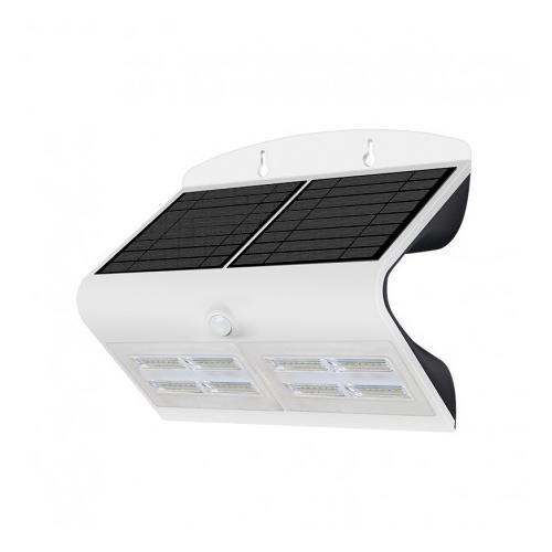Applique Murale LED Solaire 6.8W 4000K Blanc + Détecteur
