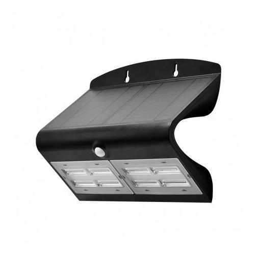 Applique Murale LED Solaire 6.8W 4000K Noir + Détecteur