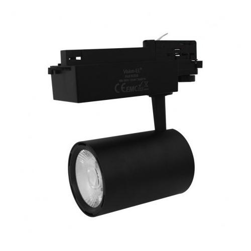 Spot LED sur Rail Noir 35W 3000K 3025 LM + adaptateur rail 3 allumages