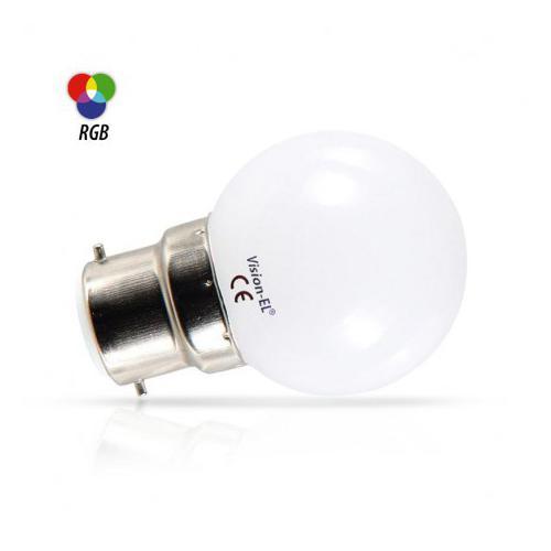Ampoule LED B22 RGB 1W