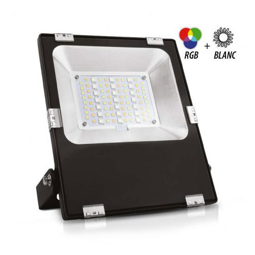 Projecteur Exterieur LED 230V Noir 20W RGB + Blanc CCT IP65