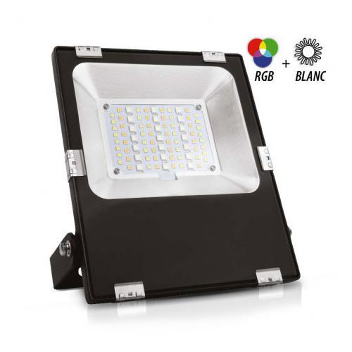 Projecteur Exterieur LED Noir 230V 30W RGB+Blanc CCT IP65
