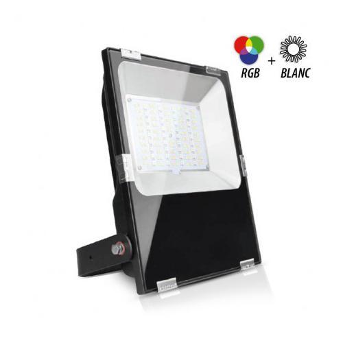 Projecteur Exterieur LED Noir 230V 50W RGB+Blanc CCT IP65