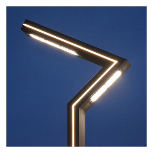 Lampadaire Eclairage Public Voie Piéton LED 50W 4000K 3m Gris Anthracite