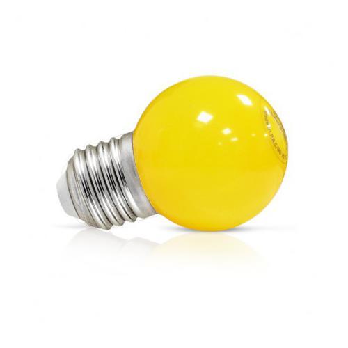 Ampoule LED E27 Couleur Bulb G45 1W Jaune