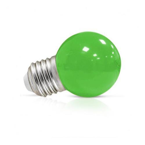 Ampoule LED E27 Couleur Bulb G45 1W Vert