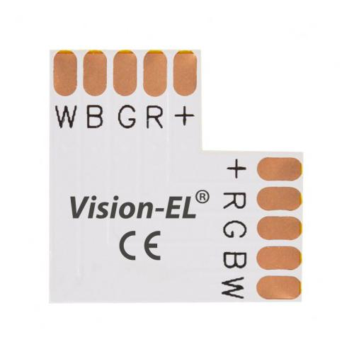 Connecteur L Bandeaux LED 12V / 24V 12mm RGB+W à souder