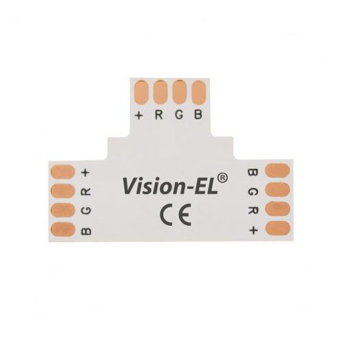 Connecteur T Bandeaux LED 12V / 24V 10mm RGB à souder