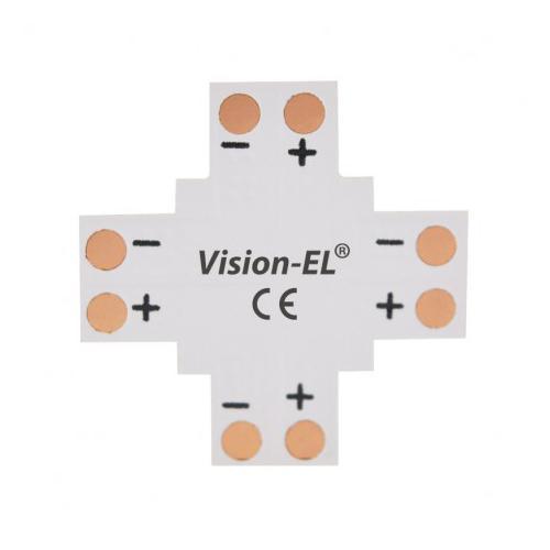 Connecteur X Bandeaux LED 12V / 24V 8mm à souder
