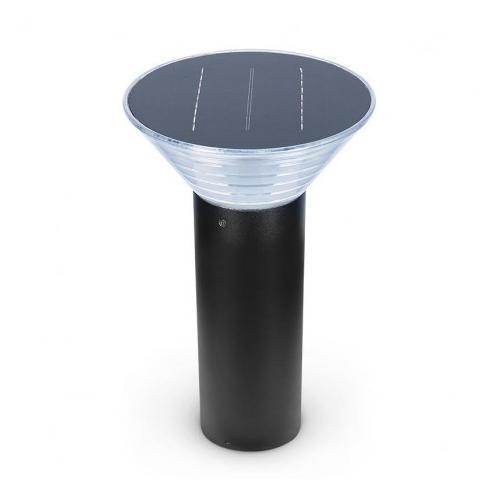 Potelet Solaire Conique LED 4W 3000K Noir 380mm