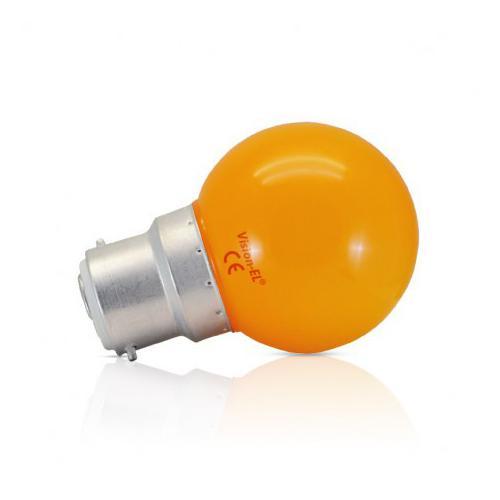 Ampoule LED B22 Couleur Bulb 1W Orange