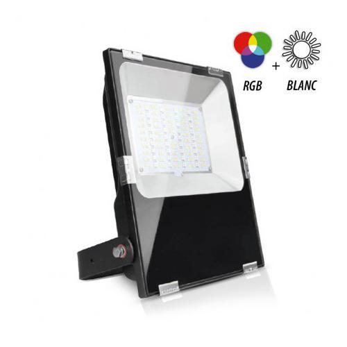 Projecteur Exterieur LED Noir 230V 100W RGB+Blanc CCT IP65
