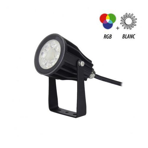 Projecteur Exterieur LED Noir 230V 6W RGB+Blanc CCT IP65