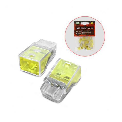 Connecteurs rapides 2 fils rigides polybag 20pcs