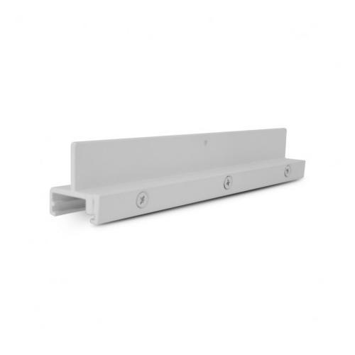Fixation WSO 38 Aluminium blanc (X 5)