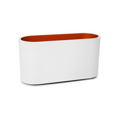 Applique Murale LED G9 X1 Blanc/Doré Ovale