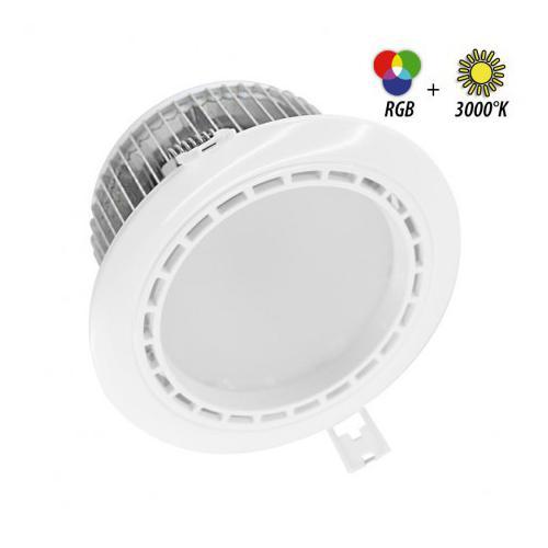 Spot LED Fixe 4 Zones avec Alimentation Electronique 13W RGB + 3000K