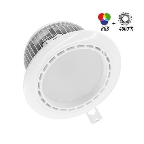 Spot LED Fixe 4 Zones avec Alimentation Electronique 13W RGB + 4000K