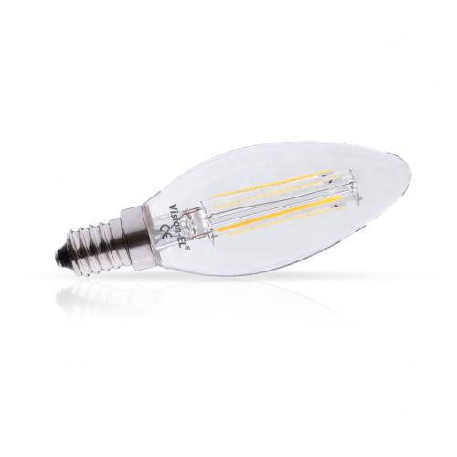 Ampoule LED E14 Filament Flamme 4W 6000K | remplace 40W