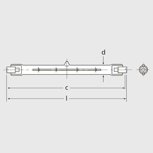 Ampoule Halogène EYE R7s 500W 8750lm