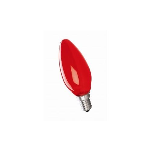 Ampoule Incandescence Flamme E14 25W Rouge