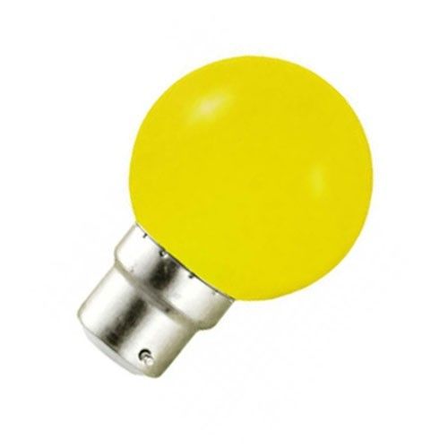 Ampoule LED 0.8W=9W B22 JAUNE